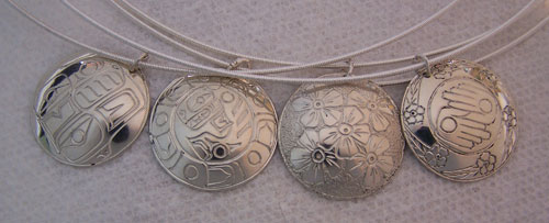 Four Sterling Chokers